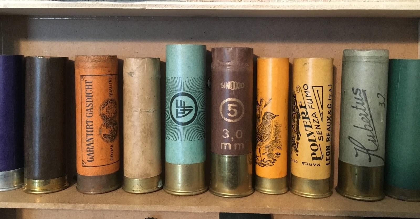 ammo and gun collector old european paper shotgun shells