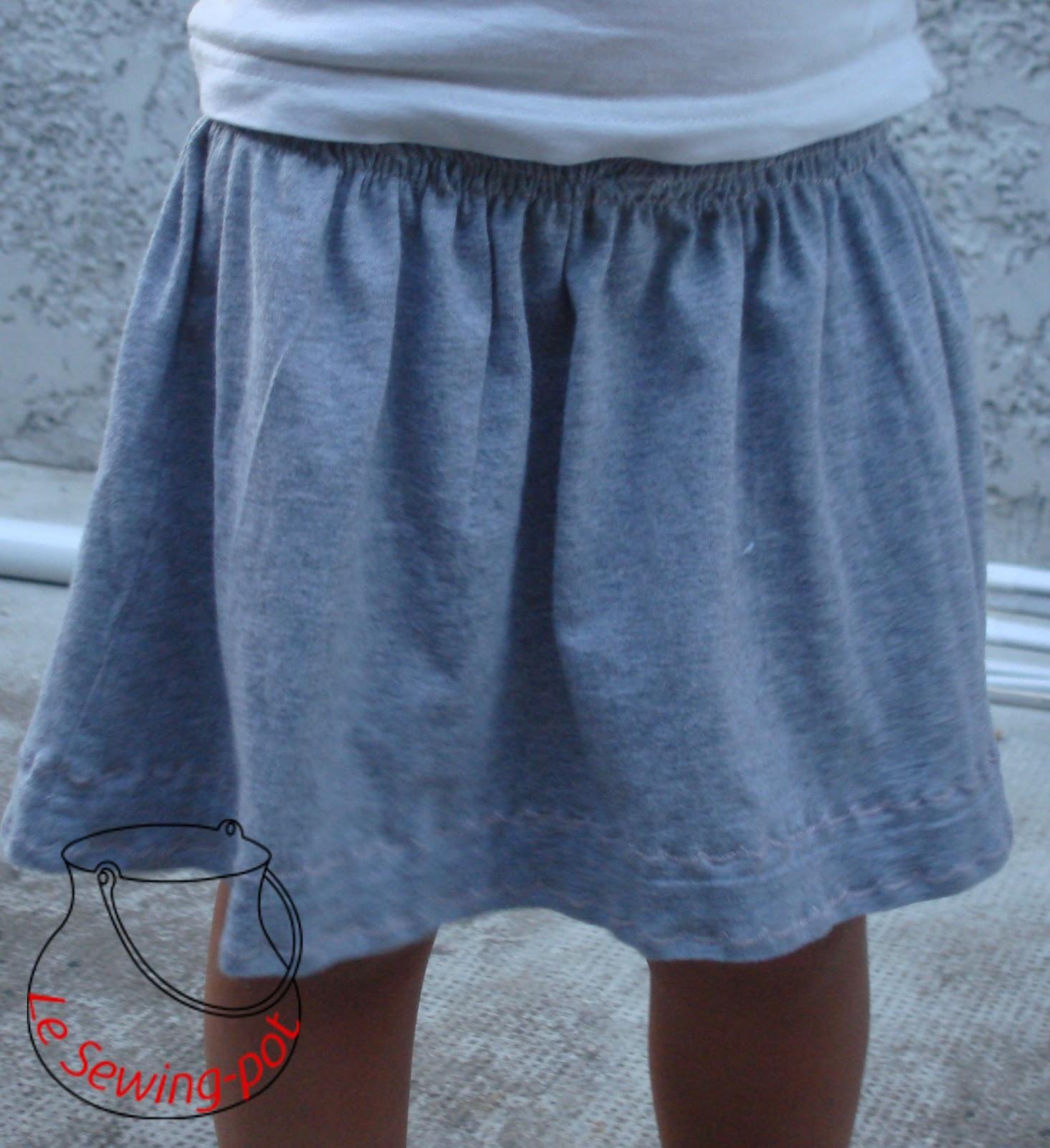 jupe t-shirt gris