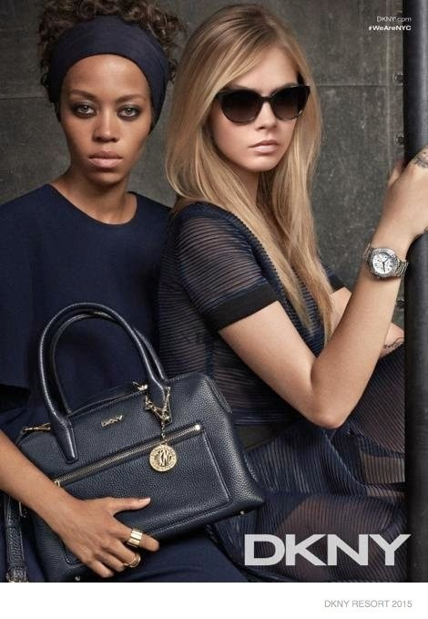 DKNY Resort 2015 Campaign featuring Cara Delevingne and others