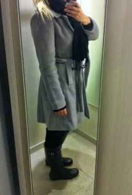 takki, coat, dorothy perkins, gray, crey, harmaa, talvitakki, wintercoat, woolcoat, villakangastakki, hunter, boots, hunter saappaat,