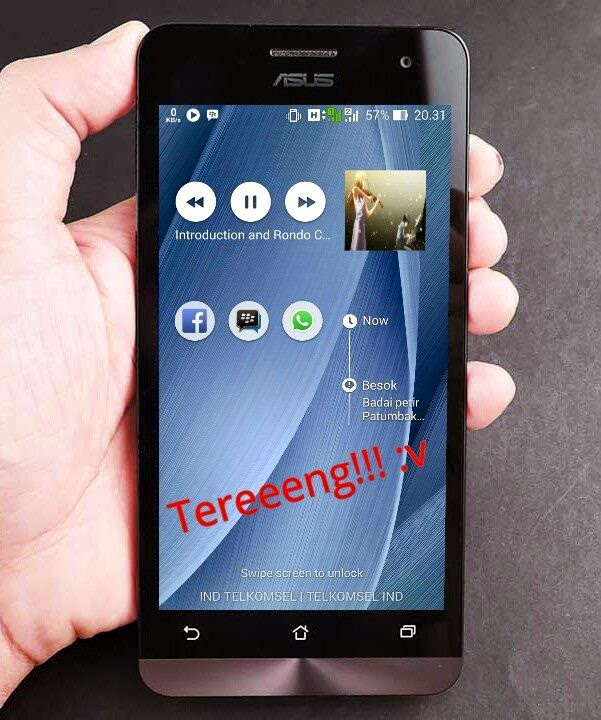 Hasil Mengganti Quick Access Asus Zenfone