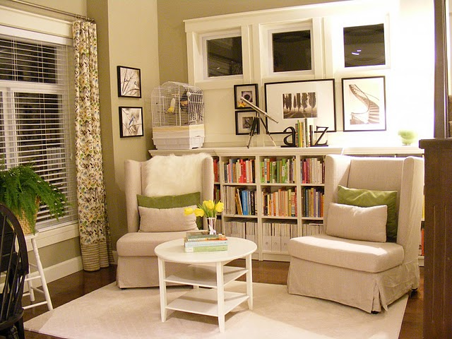 Love in idleness ikea billy bookcase hack for Organize small living room