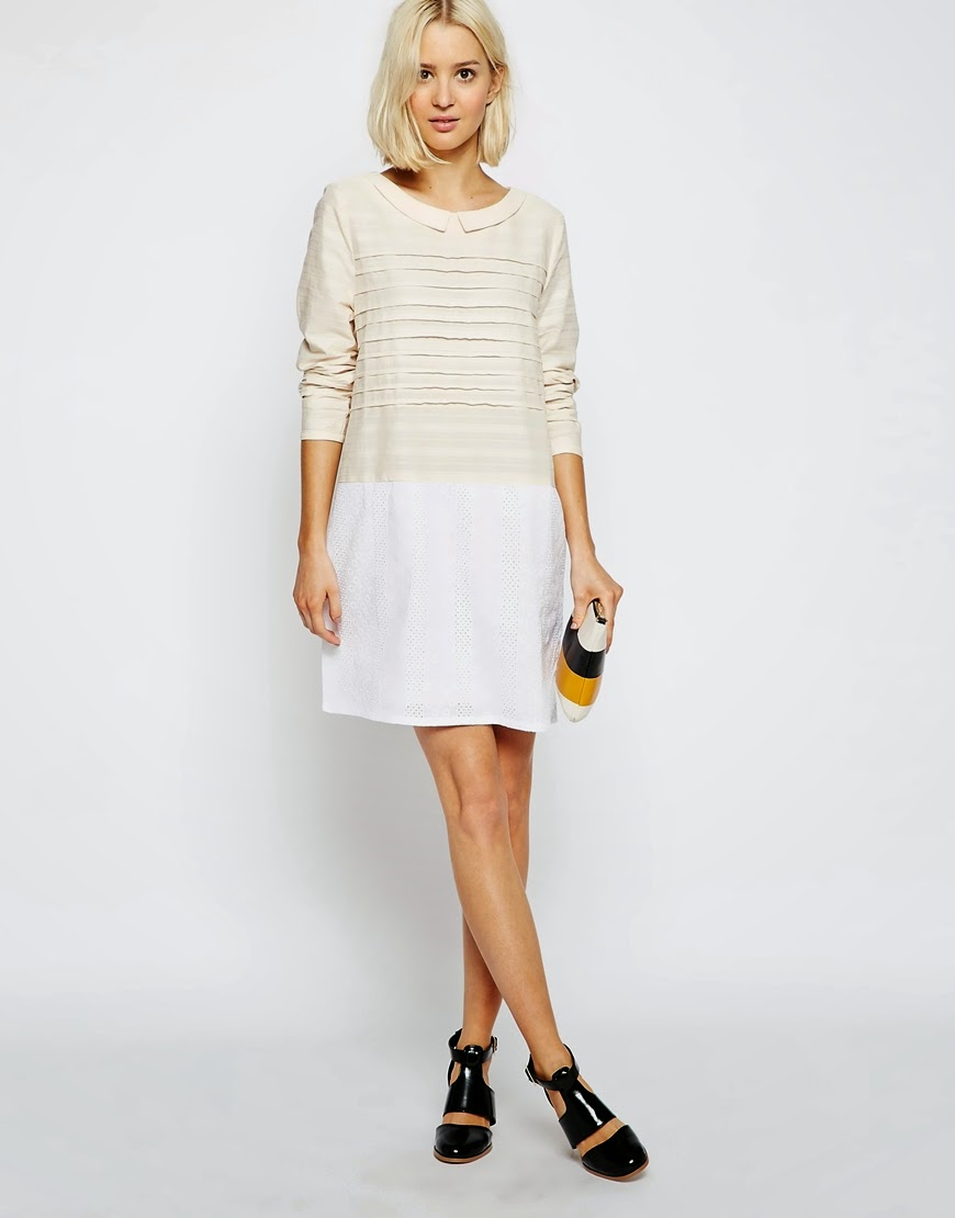 the laden showroom cream collar dress,