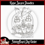 Hope Jacare Doodles at Stitchy Bear Stamps