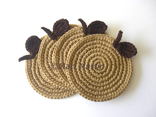 Crochet Coasters Apple Beige