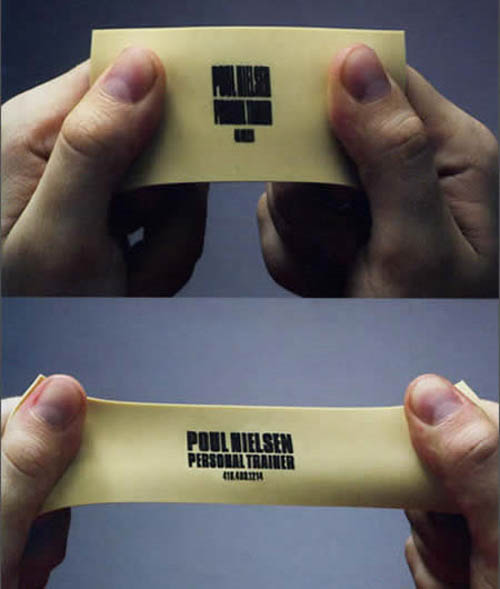 Cartões de visita criativos - Poul Wielsen - Personal Trainer