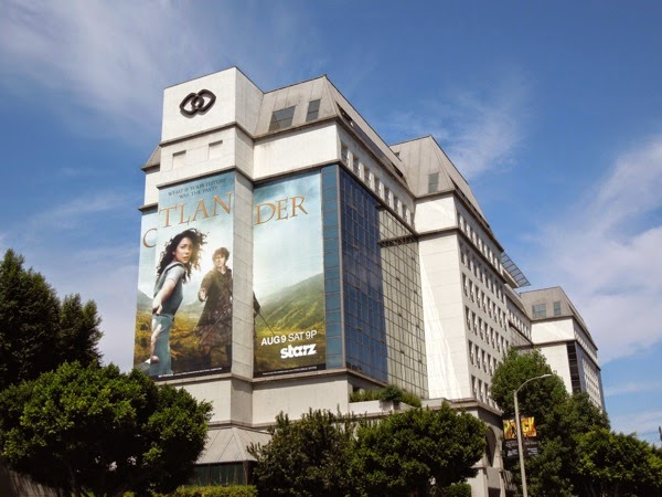 Giant Outlander billboard Sofitel Hotel