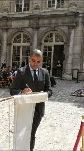 Hommage aux 4 héros de la Résistance faisant leur entrée au Panthéon. 27 mai 2015