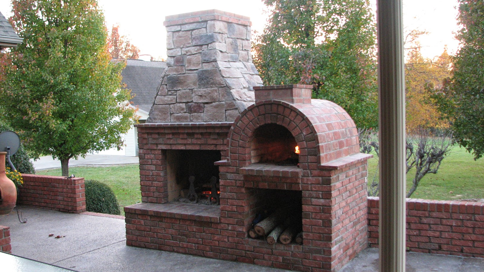 Riley Wood Fired Brick Pizza Oven And Fireplace Combo From A DIY Riley Wood  Fired Brick  Outdoor Fireplace And Pizza Oven