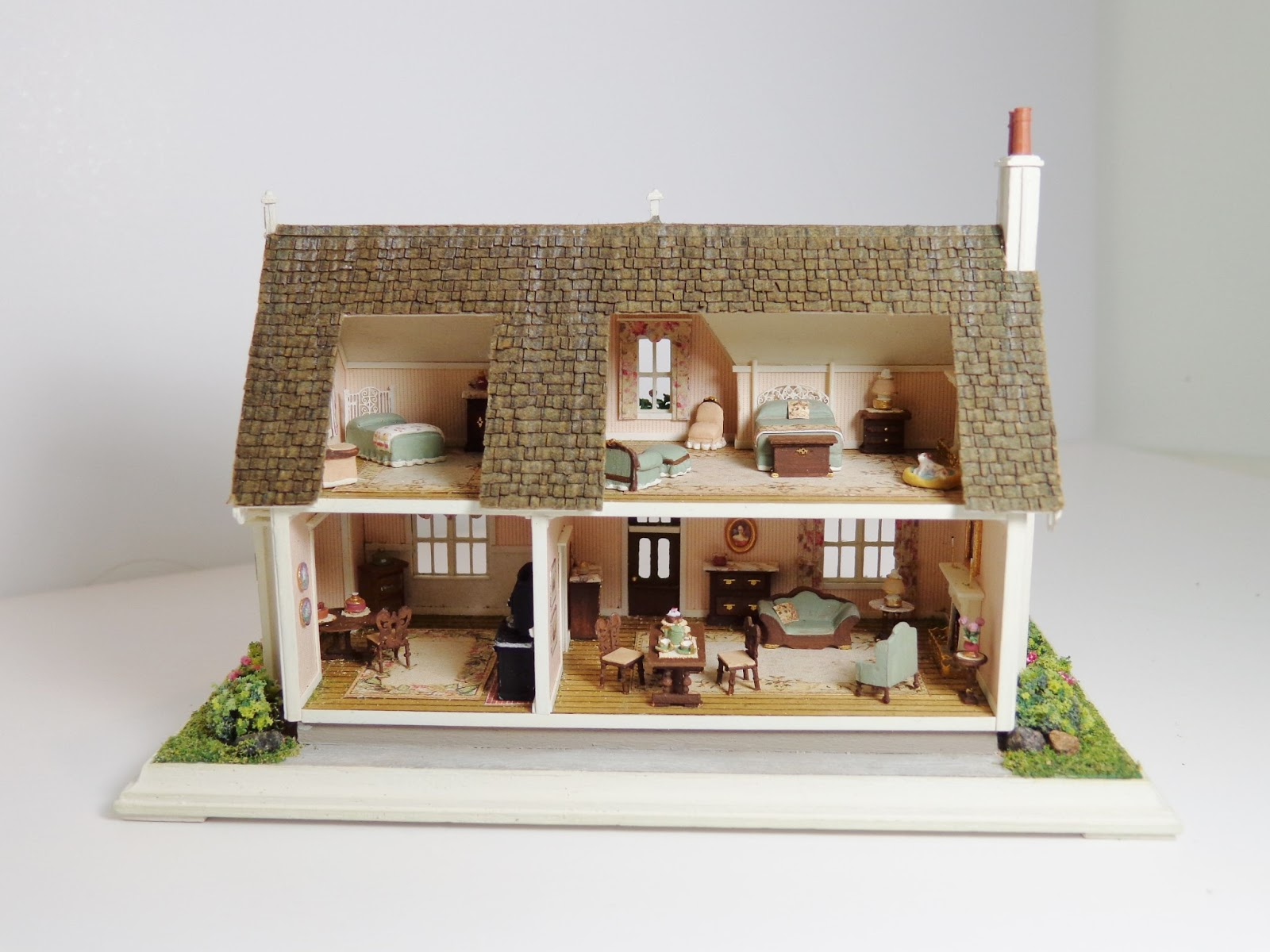 pin pottery studio cottage shaped mudlen cottages vintage end house houses miniature