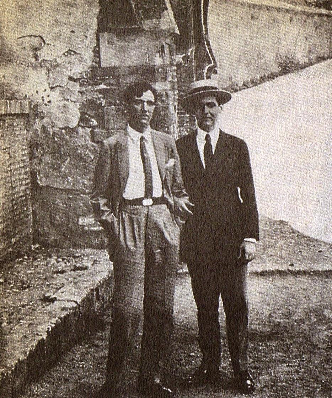 Lorca y el pintor Manuel Ángeles Ortiz