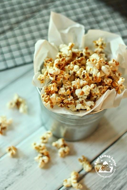 homemade caramel popcorn 爆玉米花