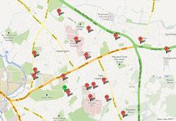 Sites in Headington