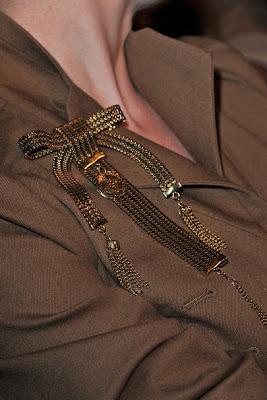 Dita Von Teese Gold Brooch