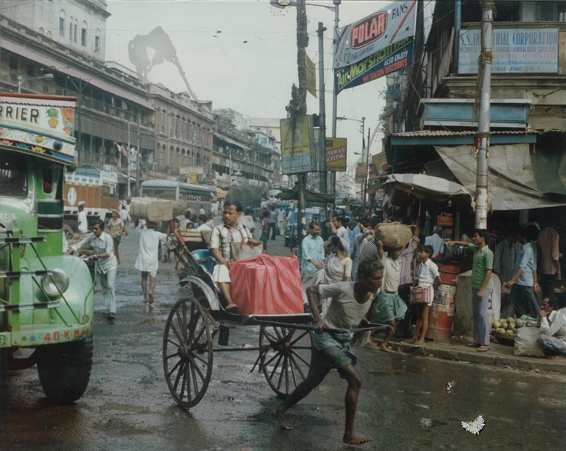 Calcutta (Kolkata) Street Scene - 1983