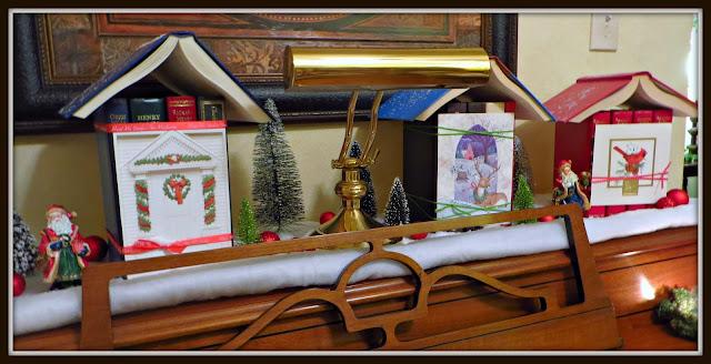 Christmas Village, book crafts, Christmas DIY