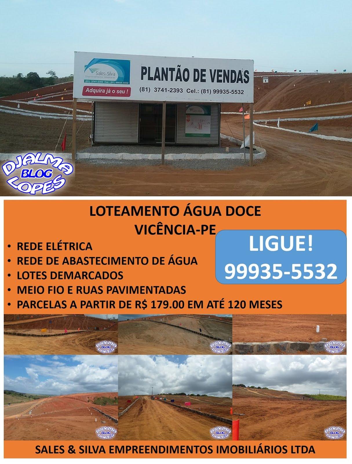LOTEAMENTO ÁGUA DOCE - VICÊNCIA-PE