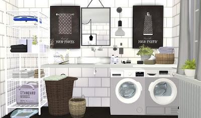 My sims 4 blog bathroom prints by viikiita for Bathroom ideas sims 4
