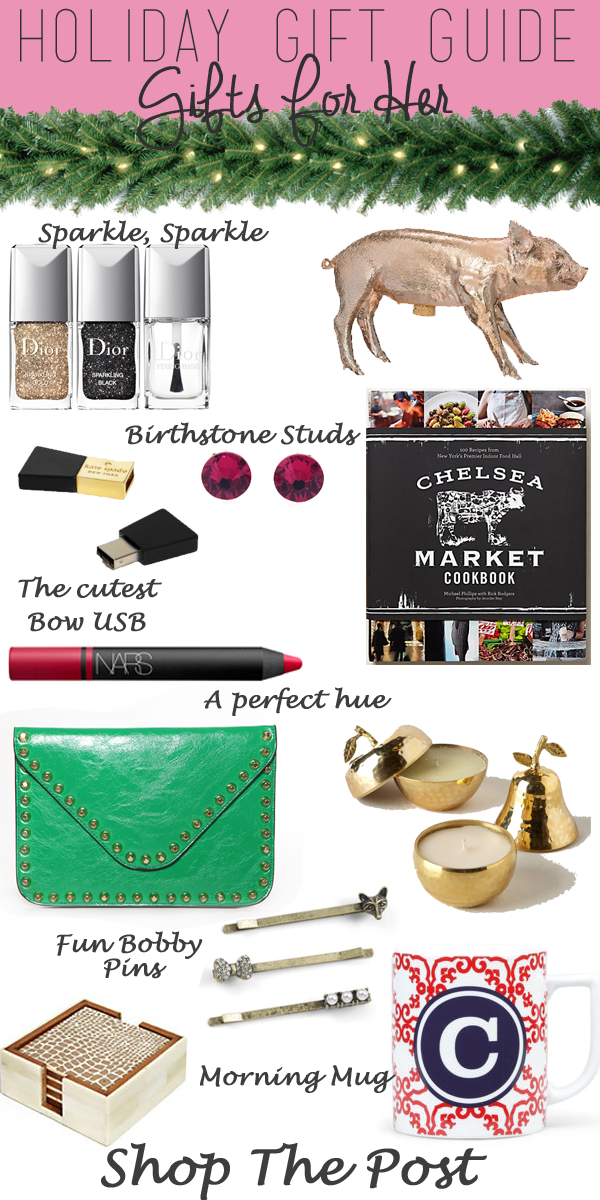 Holiday gift guide for her, holiday gifts for her,