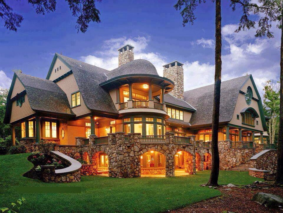 Luxury mountain craftsman home plans home designs Luxury mountain house plans