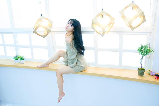 Im Soo Yeon Lovely in Beige Sweater