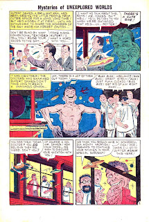 Mysteries of Unexplored Worlds v1 #22 charlton comic book page art by Steve Ditko