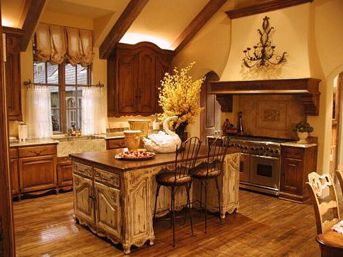 Color Is An Important Element In French Country Kitchen Design. Sunny  Yellow And Soft Gold, Burnt Rust, Bright Grass Green And Dark Hunter Green,  ...