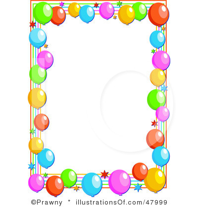 Balloon Borders Clipart4