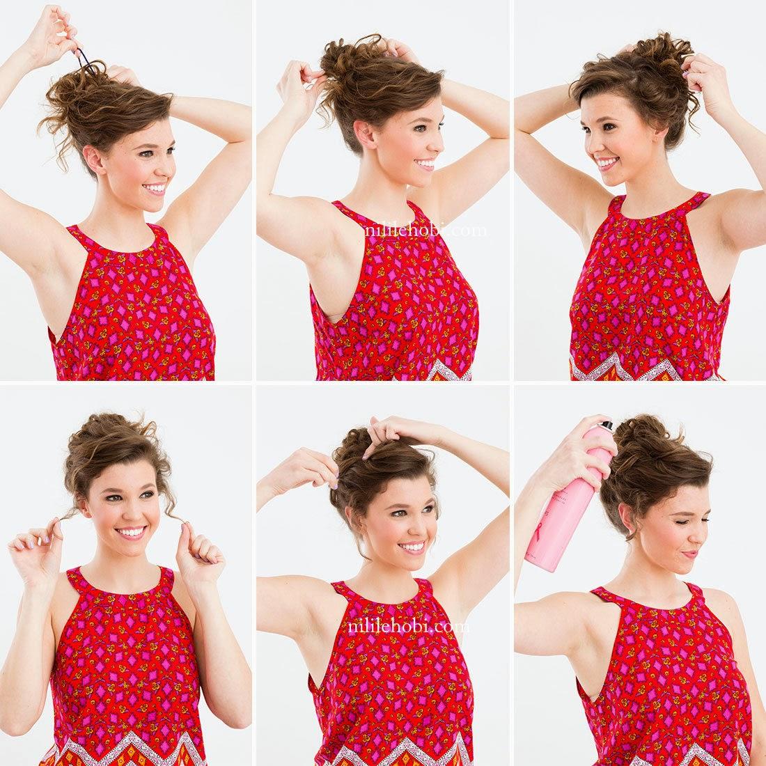 Kıvırcık Saçlar İçin Pratik 3 Model