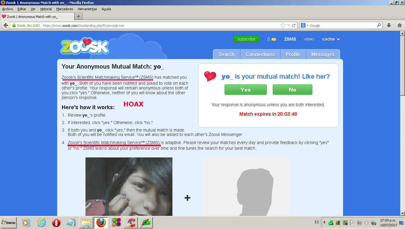 Dating zoosk