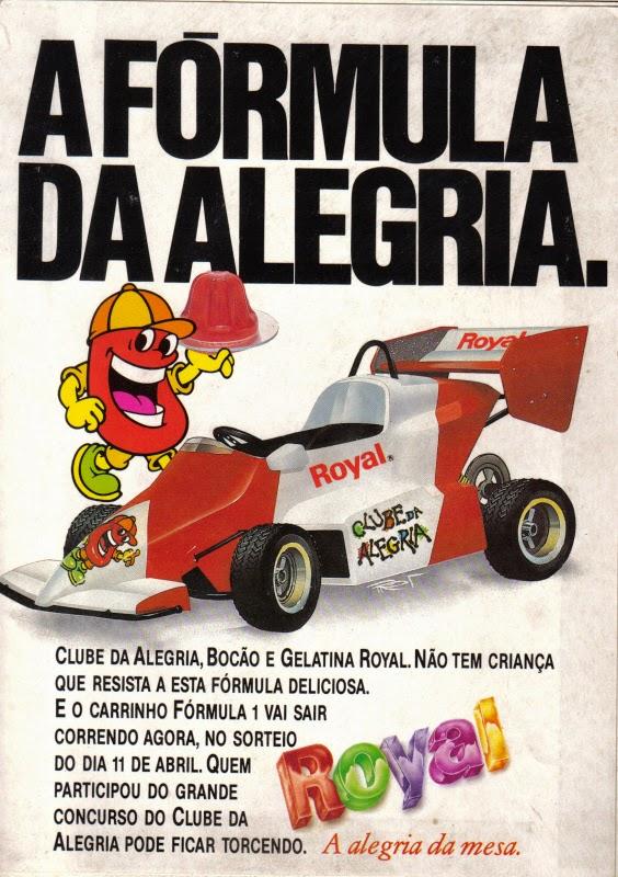 Propaganda da Gelatina Royal em 1988: campanha para combater a imagem negativa que a gelatina estava no mercado.