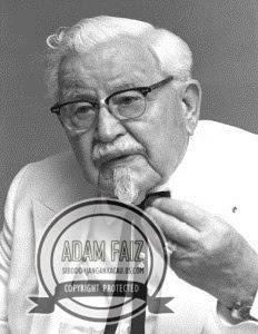 Wajah sebenar orang tua di logo KFC