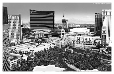 view of las vegas from mirage hotel