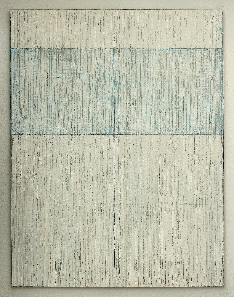 Christian hetzel white blue painting for Minimal art kunst