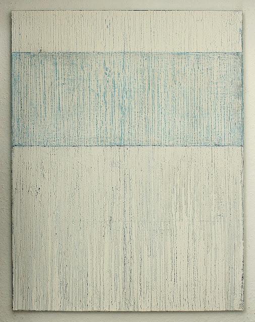 Christian hetzel white blue painting for Minimal art kunstwerke