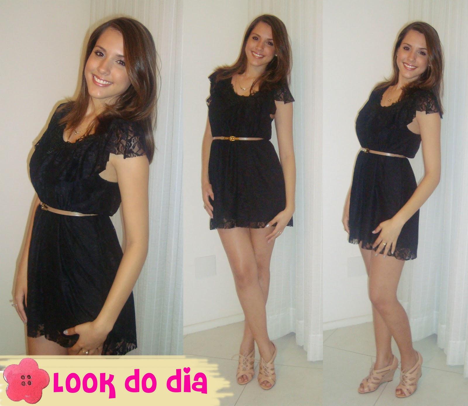 Vestido preto pode ser usado de dia