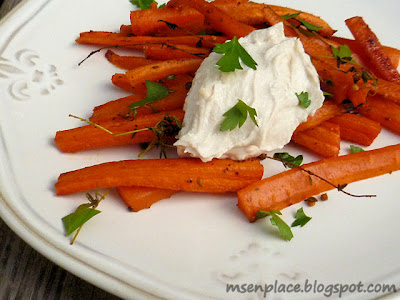 Honey Roasted Carrots w/ Tahini Yogurt