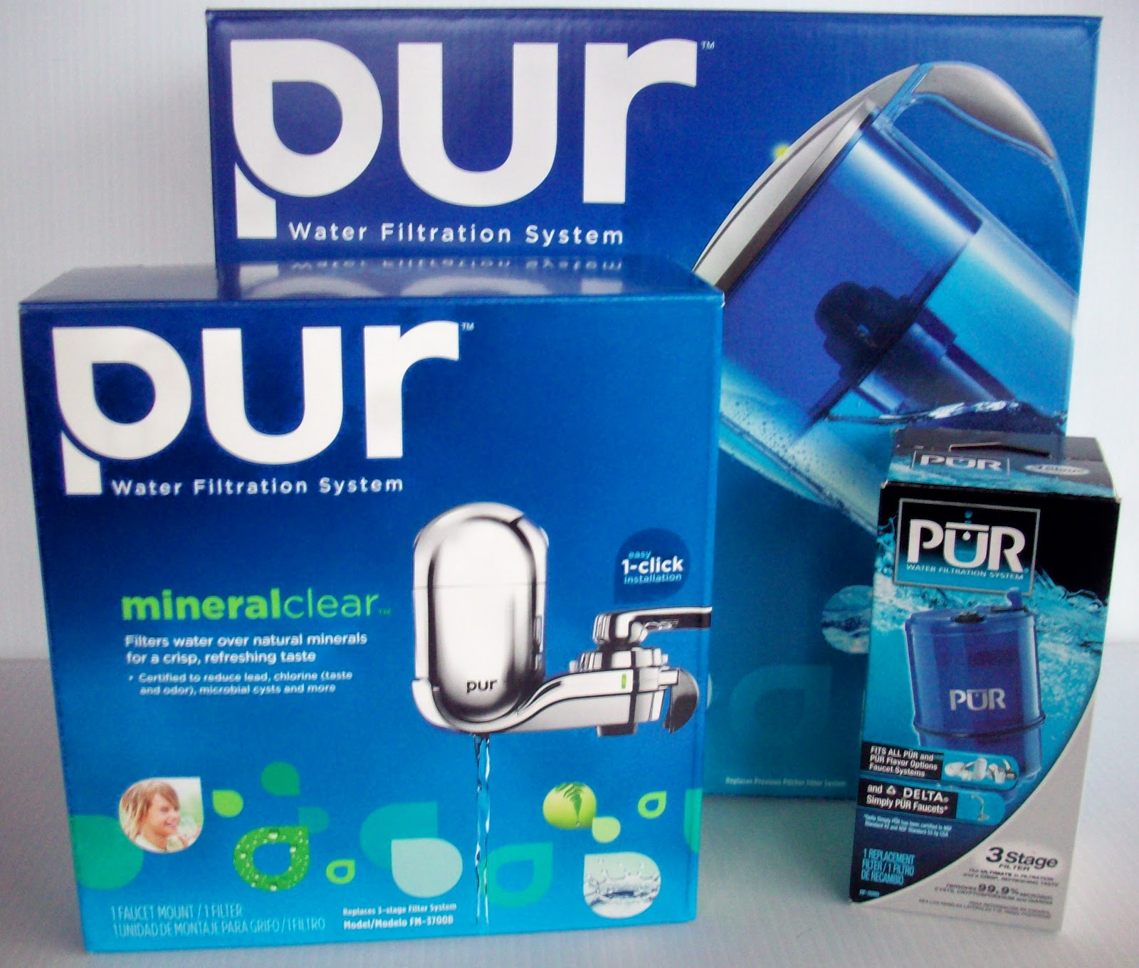 the pur water filter system was super easy to install i literally had it on within one minute the are super simple