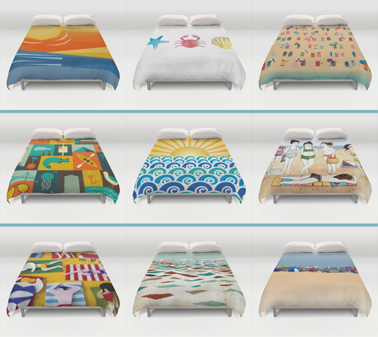 Beach Theme Duvet Cover