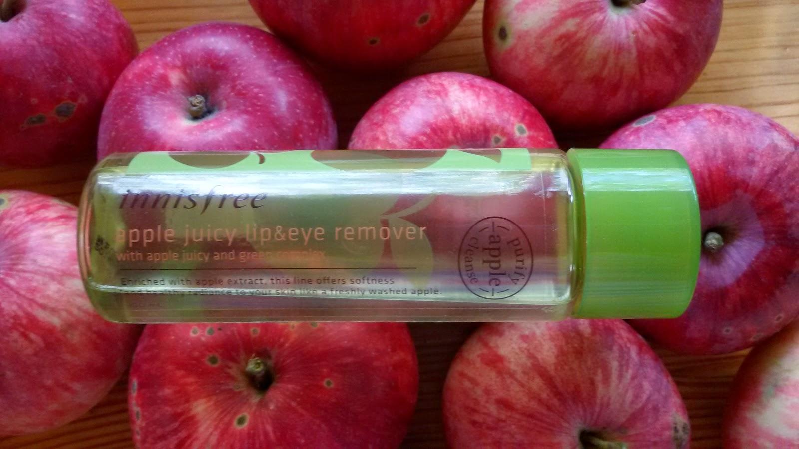 Эх, яблочко!: Снятие макияжа с Innisfree Apple Juicy Lip & Eye Remover - часть 1