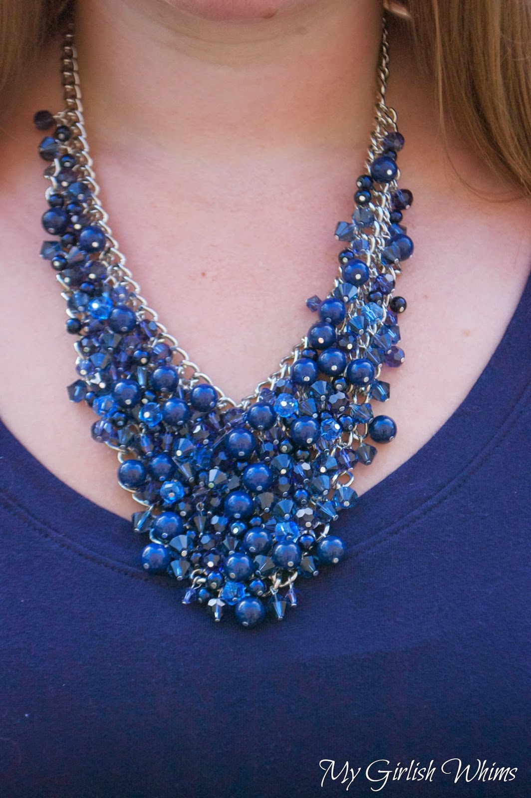 DIY Bead Cluster Web Necklace - My Girlish Whims