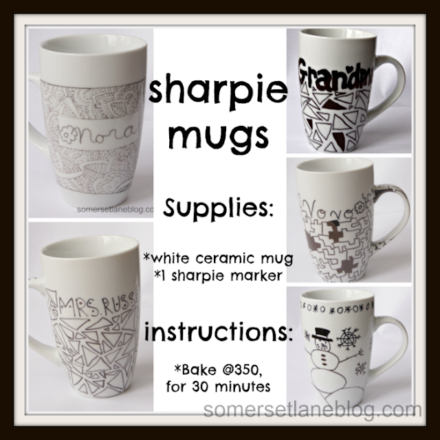 instructions on how to make sharpie marker mugs