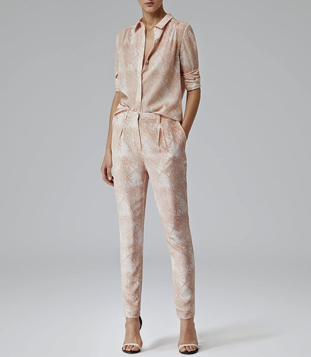 reiss peach trousers