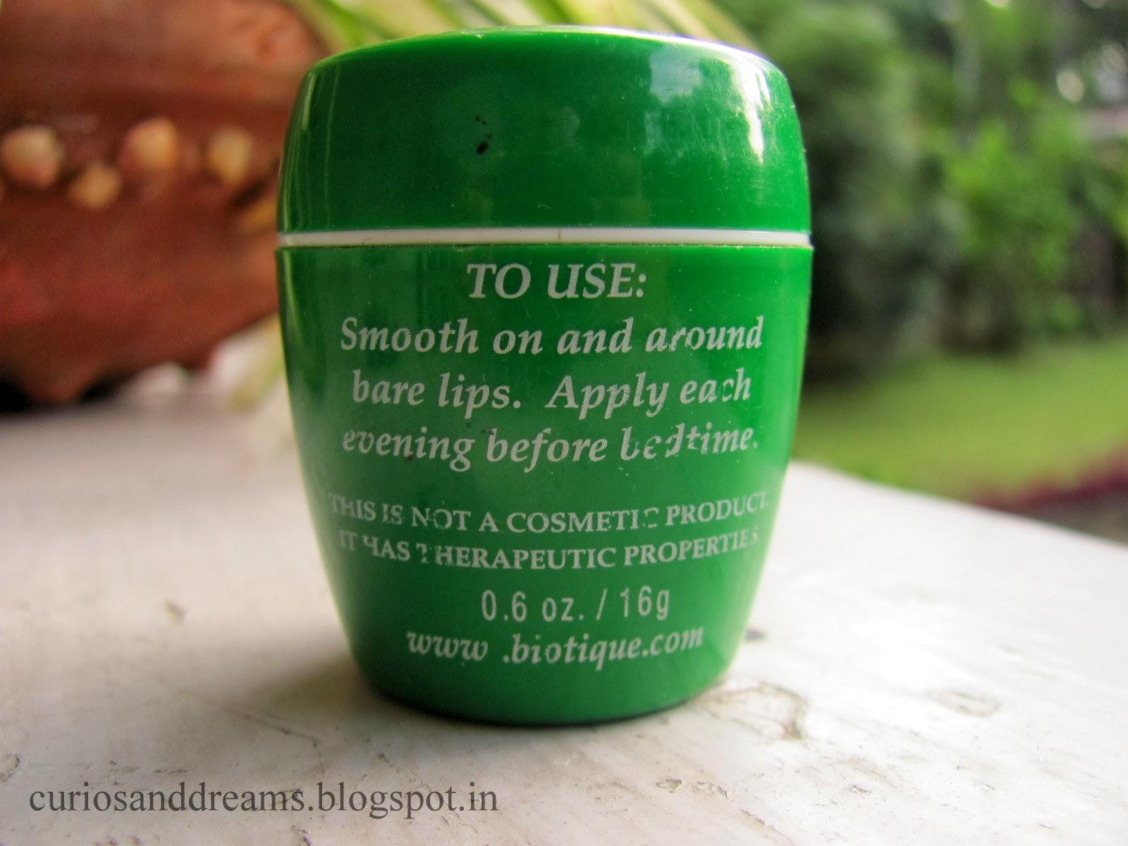 Biotique Bio Almond Overnight Therapy Lip Balm Review