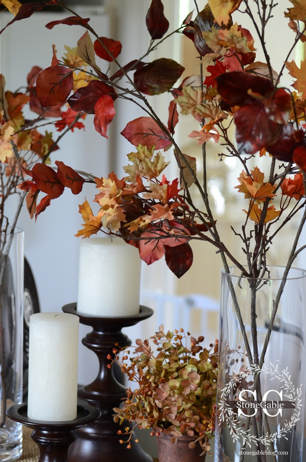 Fall Kitchen Decorating All About The Details Kitchen Home Tour Stonegable