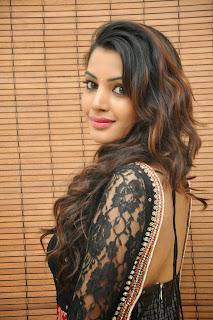 Deeksha Panth in Beautiful Black and White Anarkali Dress at Gopala Gopala Audio Release