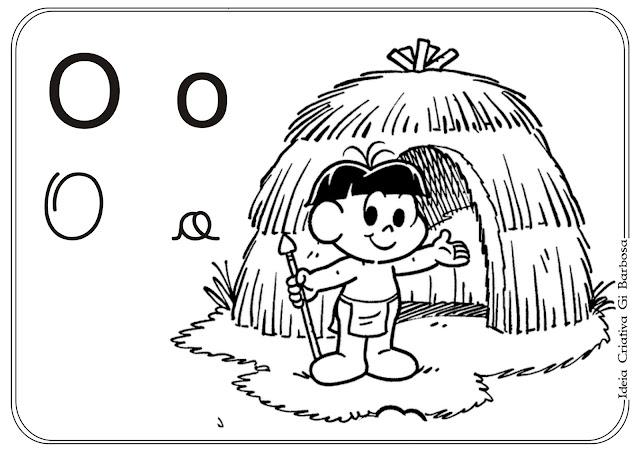 Vogais Ilustradas com a Turma da Mônica