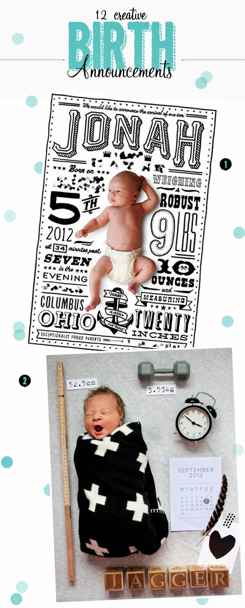 creative birth announcement