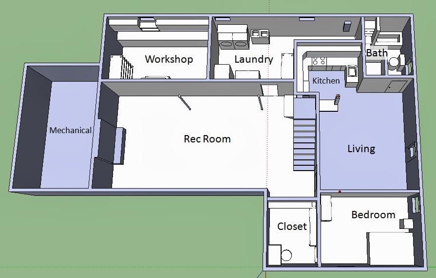 Skocik money pit twelve days of home renovation january for 1000 square foot basement floor plan