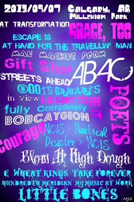 2013/09/07 Calgary, AB Tragically Hip Setlist Art